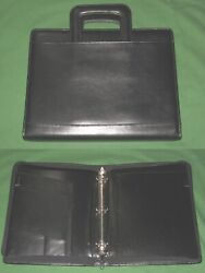 8.5x11 1.25 Black Leather Day Runner Planner Binder Franklin Covey Monarch 32