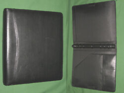 Folio 1.0 Black Leather Day Timer Planner 8.5x11 Monarch Franklin Covey 290