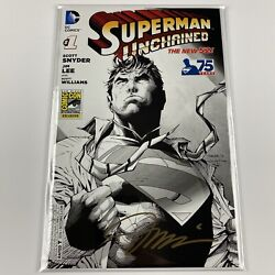 Superman Unchained 1 Sdcc Sketch Variant Signed By Jim Lee Batman