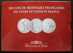 France 5 Francs 3 Coins Set 2000 Years Of French Coinage Series Iii Rare