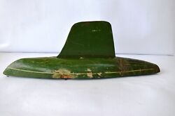 Vintage Sail Boat Ideal Toy Company Handmade Wooden Green Painted Collectiblef3