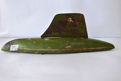 Vintage Sail Boat Ideal Toy Company Handmade Wooden Green Painted Collectiblef4