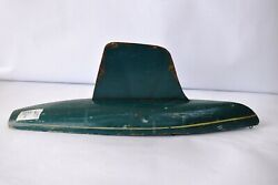 Vintage Sail Boat Ideal Toy Company Handmade Wooden Blue Painted Collectiblesf5