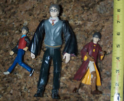 3 Harry Potter Dolls - Extremely Rare Figures With Bendable Legs