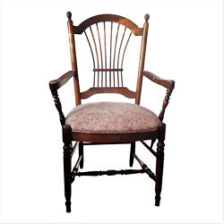 Ethan Allen Country French Arm Dining Chair, Farmhouse Decor