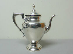 Vintage Wallace Sterling Silver 2 3/4 Pint Coffee Pot Coventry Pattern 365