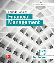 Foundations Of Financial Management By Stanley Block And Geoffrey Hirt - Hardcover