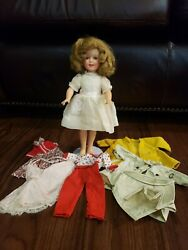 Vintage Ideal Shirley Temple Doll 12 St-12. Orginal Clothes And Five Outfits.