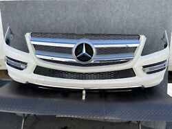 Mercedes X166 Gl350 Gl450 Complete Front Bumper Cover + Grille Daylight Oem