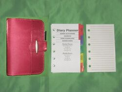 3x5 0.5 Red Nylon Binder And Refill Lot Day Runner Planner Binder Franklin Covey