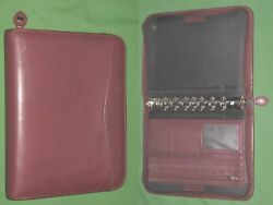 Desk 1.0 Red Leather Day Timer Planner Binder Classic Franklin Covey 8312