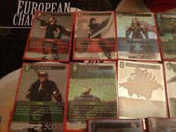 Final Fantasy 7 Trading Card Game Opus 1 Wave 1 Foil Characters