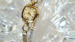 Vintage Longines-wittnauer Square Mechanical 10k Gf Womens Watch