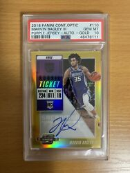 2018 Panini Contenders Optic Gold Marvin Bagley Iii Rookie Rc Auto /10 Psa 10