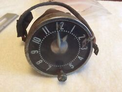 Vintage Corvette/chevy Oem Dash Clock 56-62 Newhaven Clock Andwatch Co. Hands Move