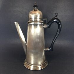 W S Blackinton Silver Plate Teapot Reproduction After Jacob Hurd 12.5 Tall