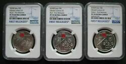 Italy 5euro 2020 Silver Coin Excellence Olivetti Lettera 22 3pcs Set Ngc Pf70