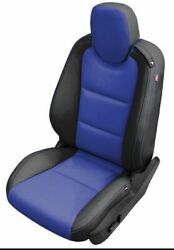 2010-2015 Chevy Chevrolet Camaro Coupe Katzkin Leather Seat Covers Black And Blue