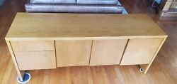 Pristine Oak Office/home Harry Lunstead Credenza Highly Collectible