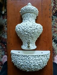 Vintage Lavabo 3-pc Porcelain Wall Fountain Made In Italy