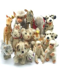 Lot Of 14 Steiff Stuffed Animal Toys, Germany 1950s To Ea.1960s