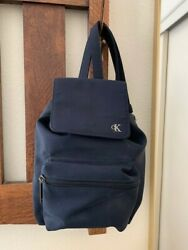 Vintage Women#x27;s CALVIN KLEIN Small Navy Backpack  $29.00