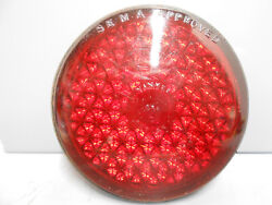 Vintage 3 1 4quot; Red Yankee Reflex Auto Truck Tail Light Lamp Glass Lens 256?