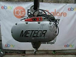 Cm Meteor 3/4 Ton Electric Rope Hoist 20 Feet Lift 460 Volts New Condition