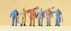 Ho Preiser 14033 Railroad Track Workers Many Holding Tools 1/87 Scale Figures