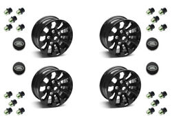 Set Of 4 - 18and039and039 Sawtooth Alloy Wheel Part Ba3460b/lr025862a With Lugs And Caps