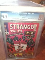 Strange Tales 136 Cgc 9.2 9/65 White Pgs 2nd Nick Fury And Shield Northland Ped.