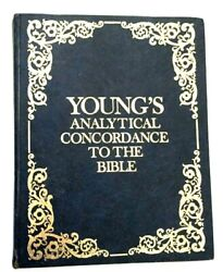 Vintage 1980 Young's Analytical Concordance To The Bible Hc - Library Covers