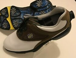 Foot Joy Reel Fit Boa Tech Dial Lace Soft Spike Brown White Golf Shoes 10 New Fj