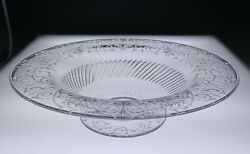 Rare Pairpoint Cleveland Pattern 14 Engraved Glass Centerpiece Bowl Antique Abp