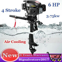 Hangkai 6hp 4-stroke Outboard Motor Fishing Boat Engine Air Cooling System Shaft