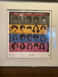 Rolling Stones - Vintage Some Girls Signed And Numbered Lithograph