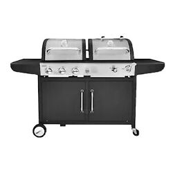 Royal Gourmet 3-burner Propane Gas Charcoal Combo Grill Double Layer Slide Out