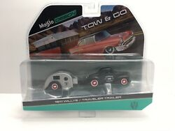 1941 Willys Matt Black And Traveler Trailer Tow And Go 1/64 Diecast Model By Mais