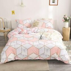 Marble Bedding White Gold Marble Duvet Cover Set Gold Geometric Marble Printed D