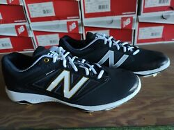 New Balance L4040bk3 Black/white Menand039s Baseball Metal Cleat Black New In Box