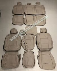 Ford F250 F350 Xl Xlt Supercab Katzkin Leather Seat Covers Med. Earth Gray Grey