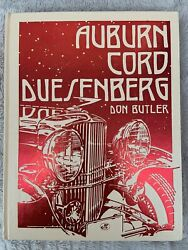 Auburn Cord Duesenberg By Don Butler - Hardcover Excellent Condition