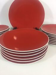 Crate And Barrel Lisbon Dinner Plates, Salad And Dessert Plates Discontinued A++++