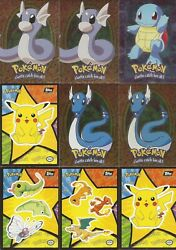 12 Pokemon Topps The First Movie Holographic Holo Foil Cards And Stickers