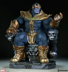 Sideshow Thanos On Throne Exclusive Maquette Statue Avengers Premium Format