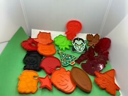 20 Hallmark And Hrm Cookie Cutters Painted Snoopy Vampire Kermit Cat Witch Owl