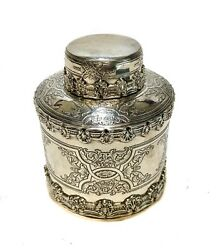 And Co Sterling Silver Tea Caddy 1936