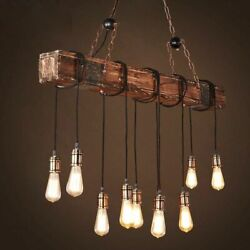 Vintage Hanging Lamp Chain Pendants For Home Improvements Wooden Chandeliers New