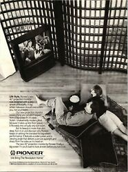 1990 Pioneer Lifestyle Projection Monitor TV Vintage Print Ad