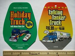 1998 And 2000 Sunoco Talking Tanker Truck Race Car Gas Pump Advertisement Signs